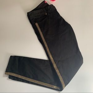 Lily PULITZER BLACK PANTS WITH SIDE DETAILS